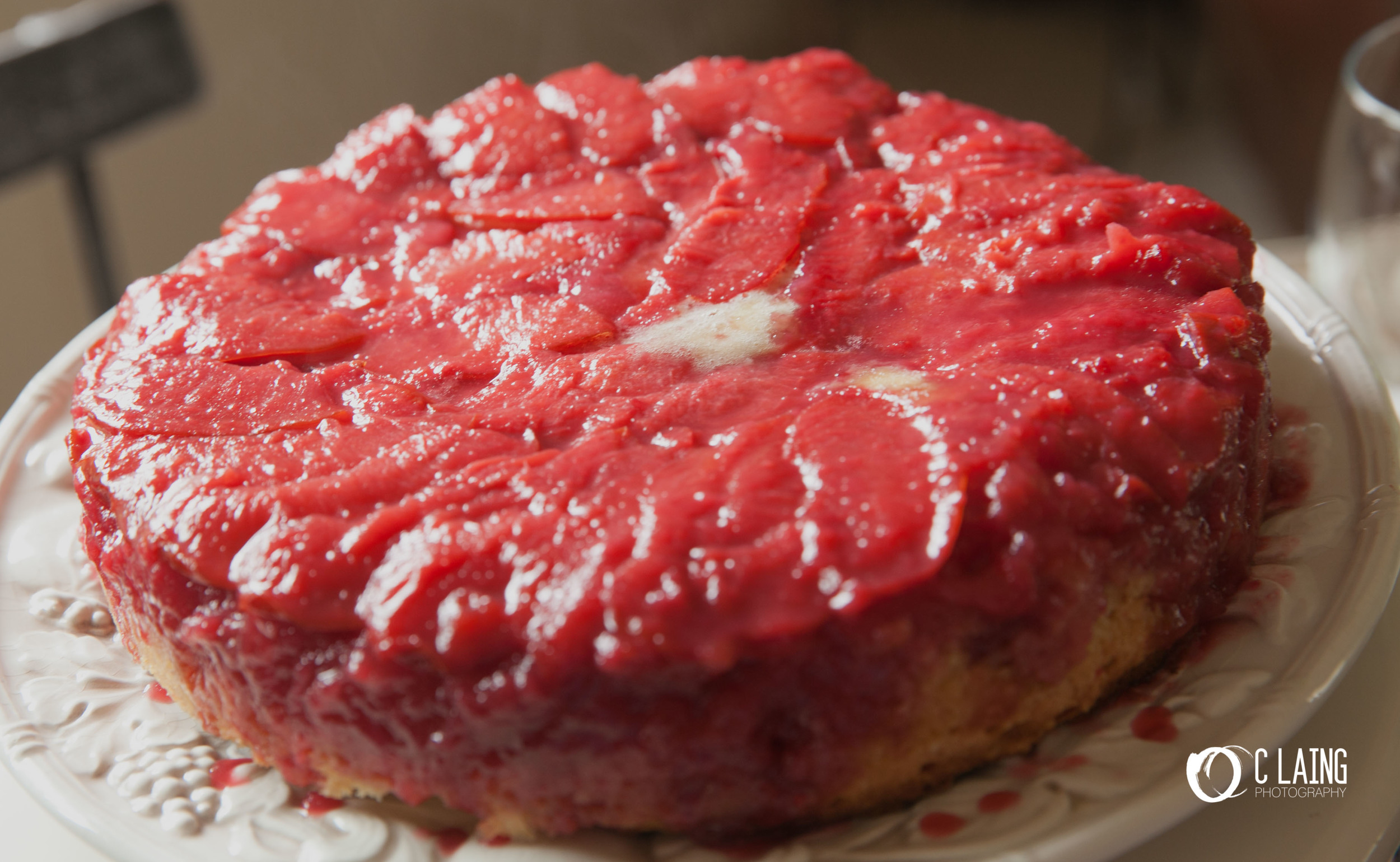 Pluot upside-down cake. I am not a person who eats sweets, but so I have been told.... it was delicious!