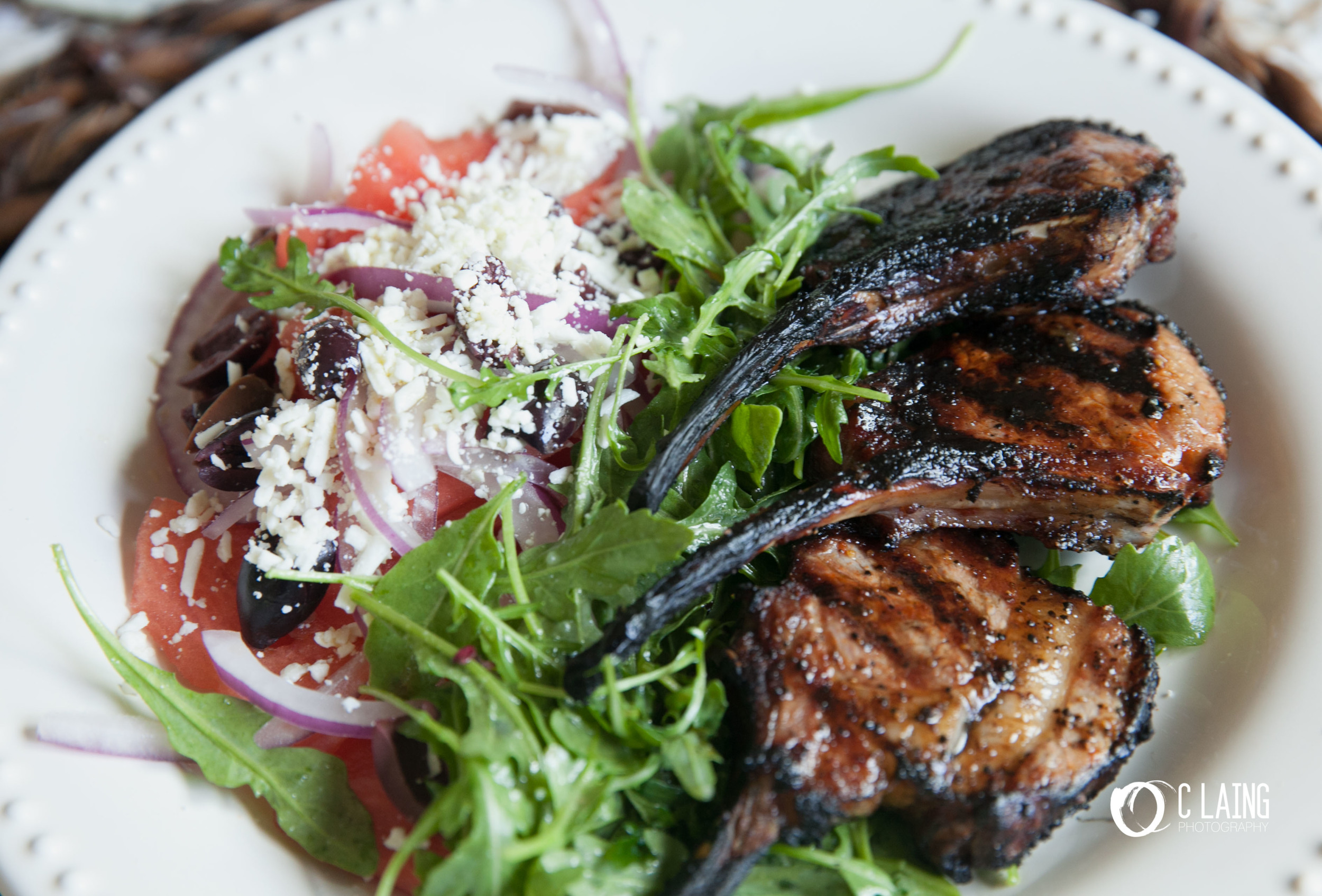 Grilled lamb chops with watermelon-feta salad. This recipe was absolutely INCREDIBLE! and super fast and easy to make. If like me, you wear many hats and are looking for fast delicious meals to make; look no further.