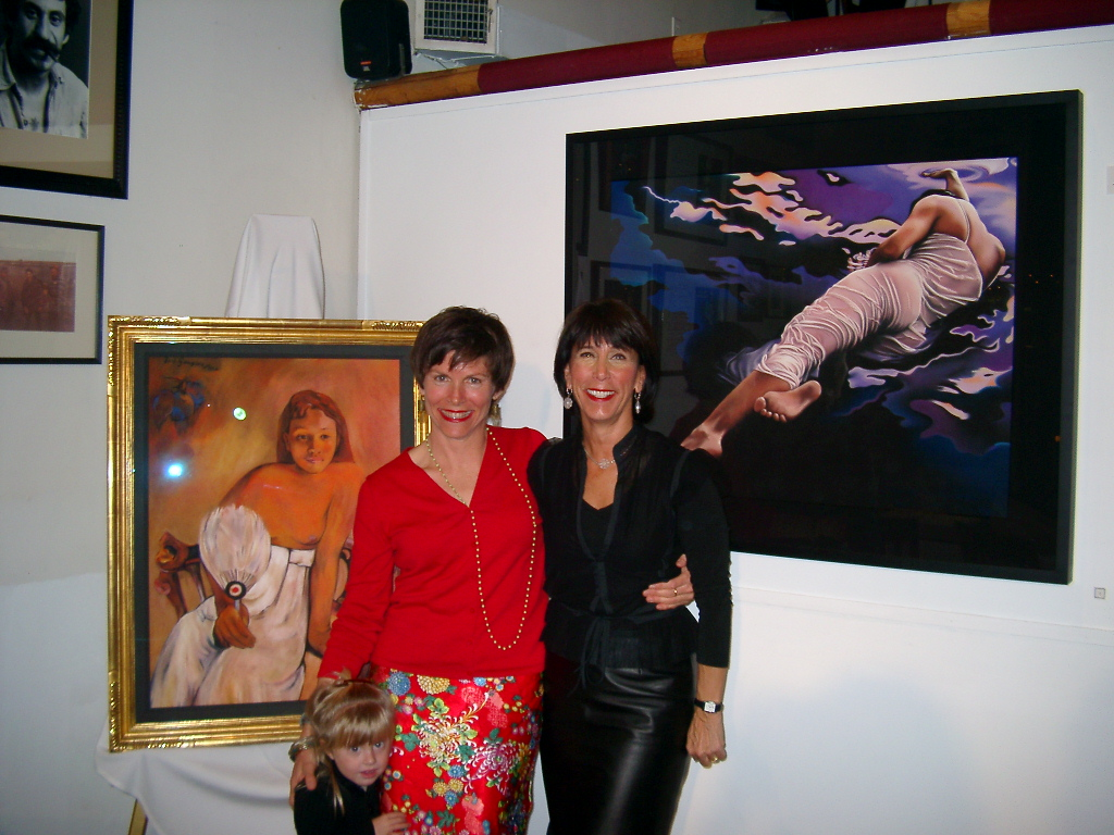 Barbara's art show with Ingrid Croce