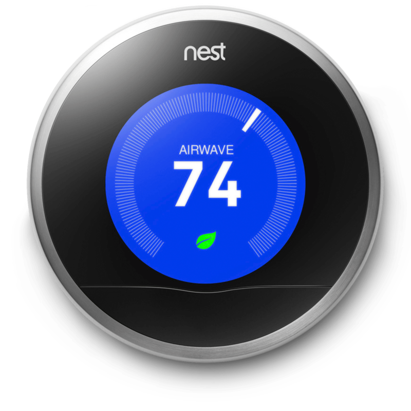 Similar to the volume knob example, in the Nest Thermostat, the entire product is a dial (the trigger), which has an embedded screen that displays the temperature (the data) as your turn the dial.