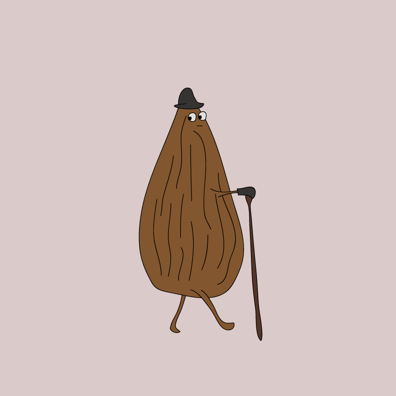 Just an Almond, Out for a Walk...