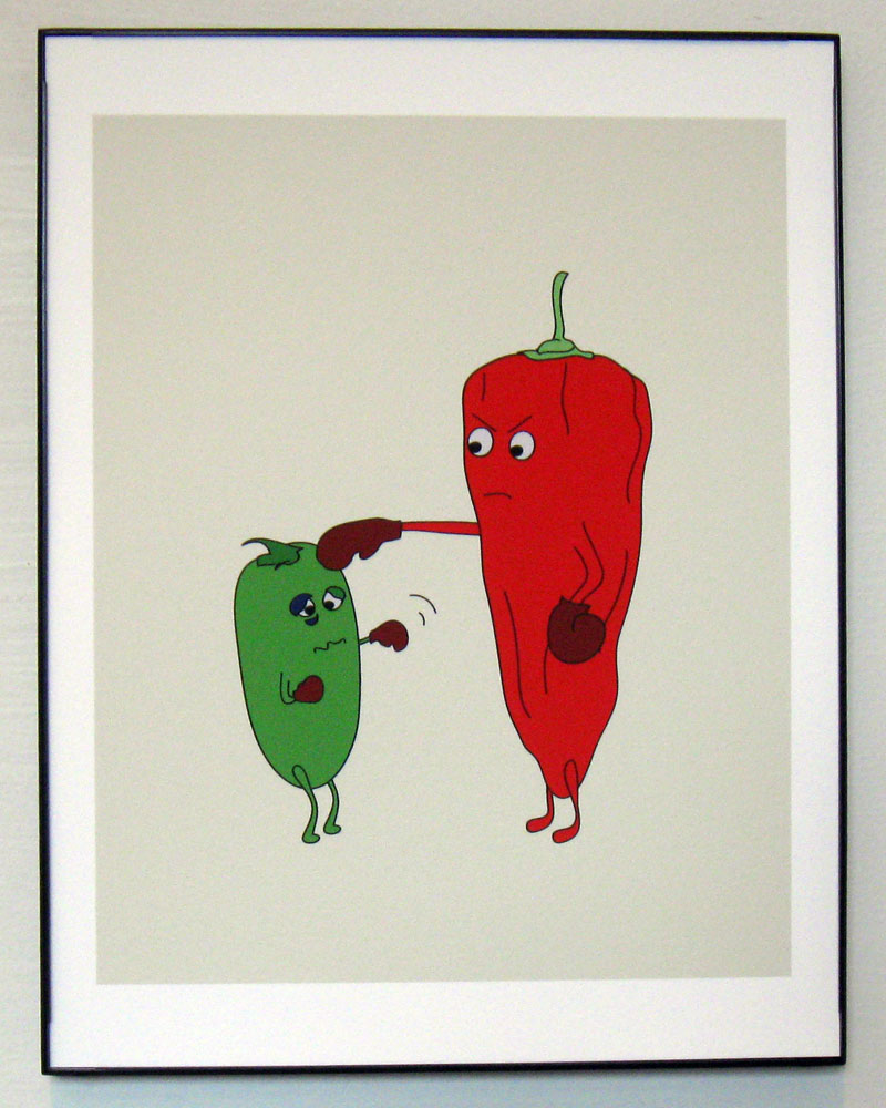 Peppers Fighting Print