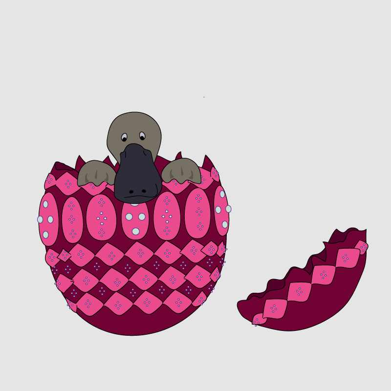 Platypus. Being Hatched from a Faberge Egg
