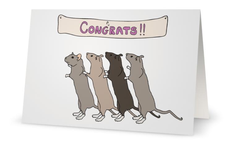 Cong(a)Rats Card