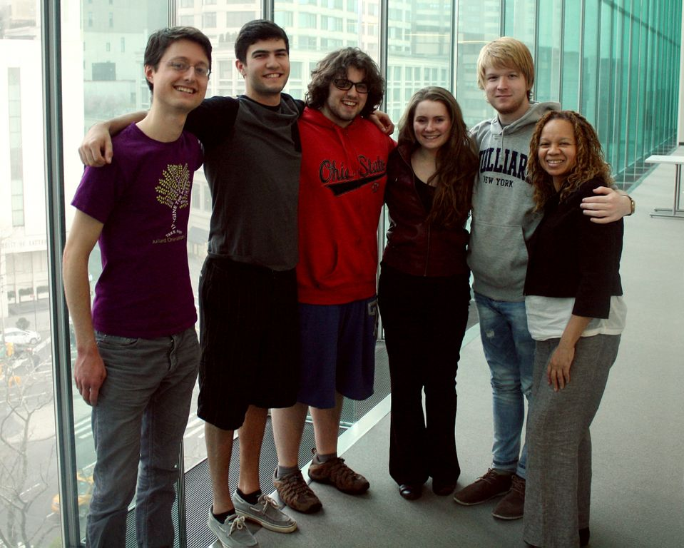 Jan (left) with the YA meditation group he's organized on his college campus.