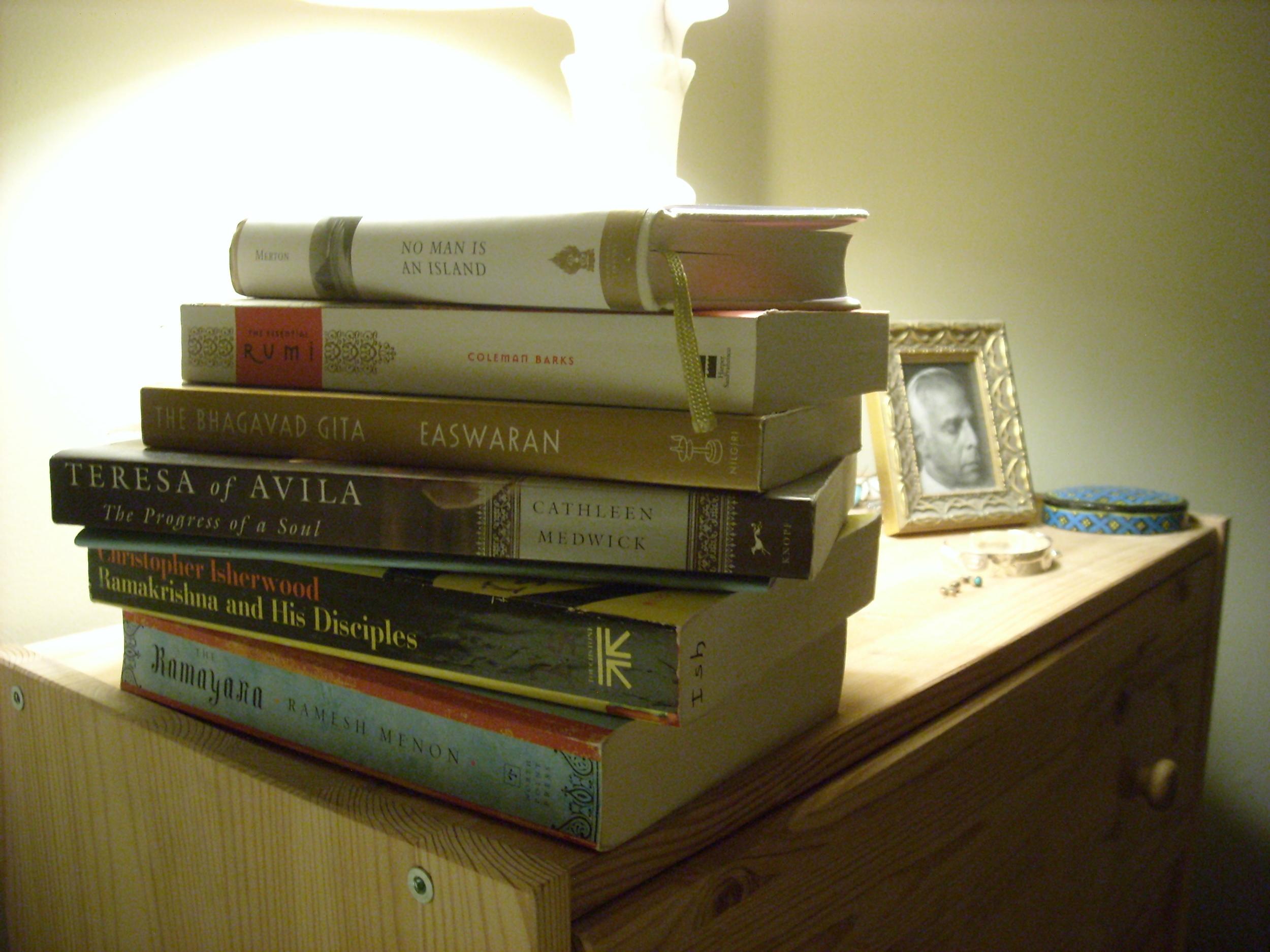 Kate's bedside books.