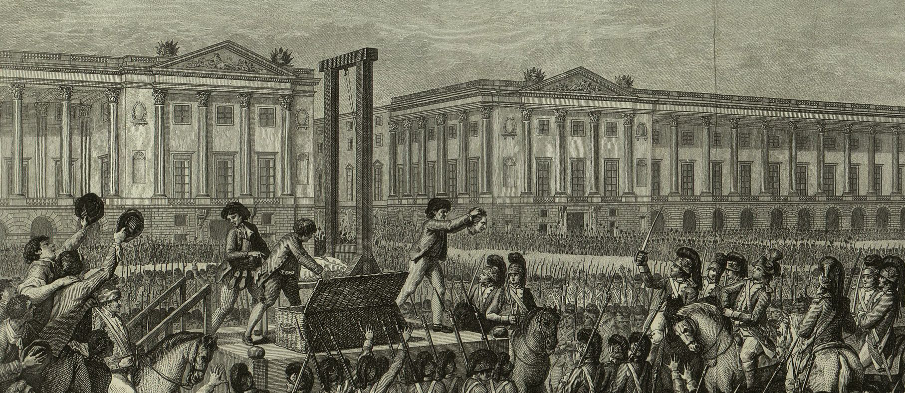The execution of Louis XVI in the Place de la Concorde