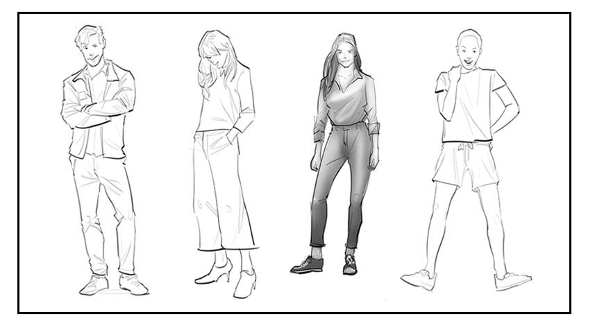 """Uniqlo """"Fashion Sketches"""""""