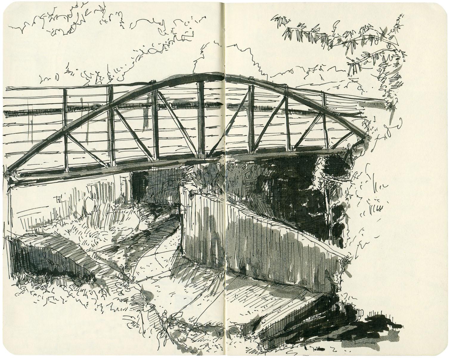 Sketchbook: Trail Bridge