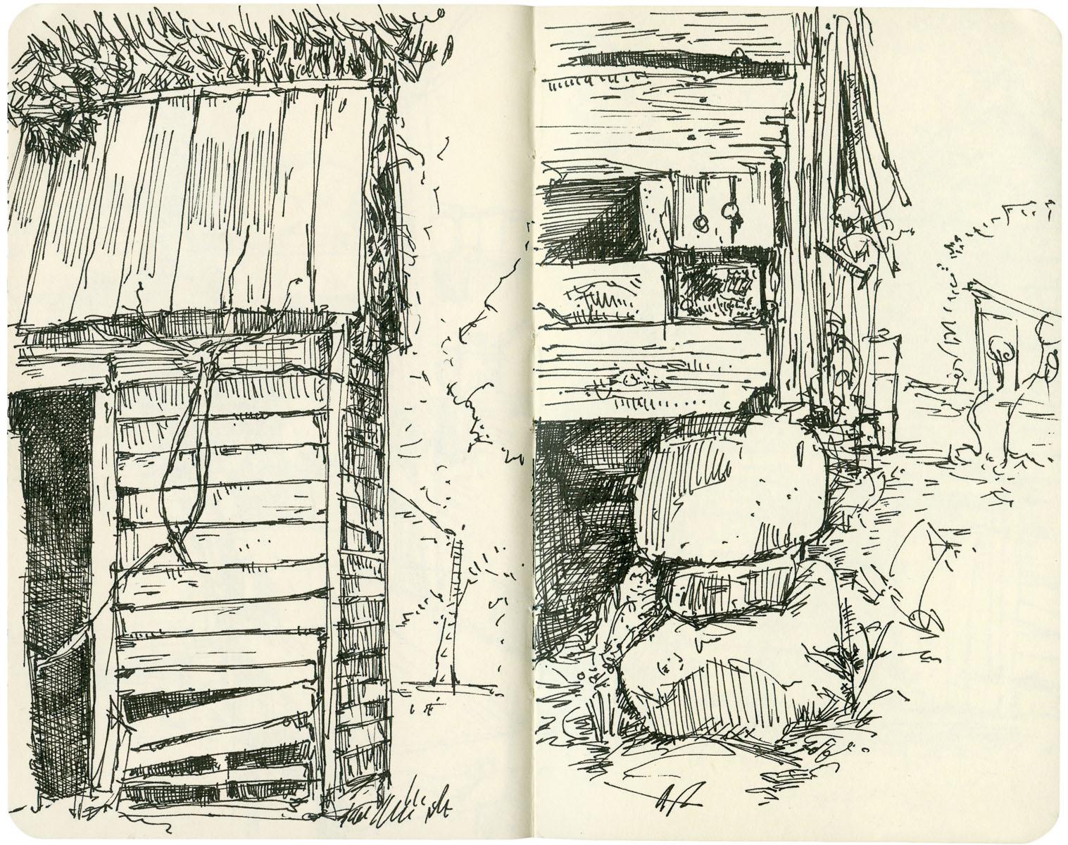 Sketchbook: Barn Corners