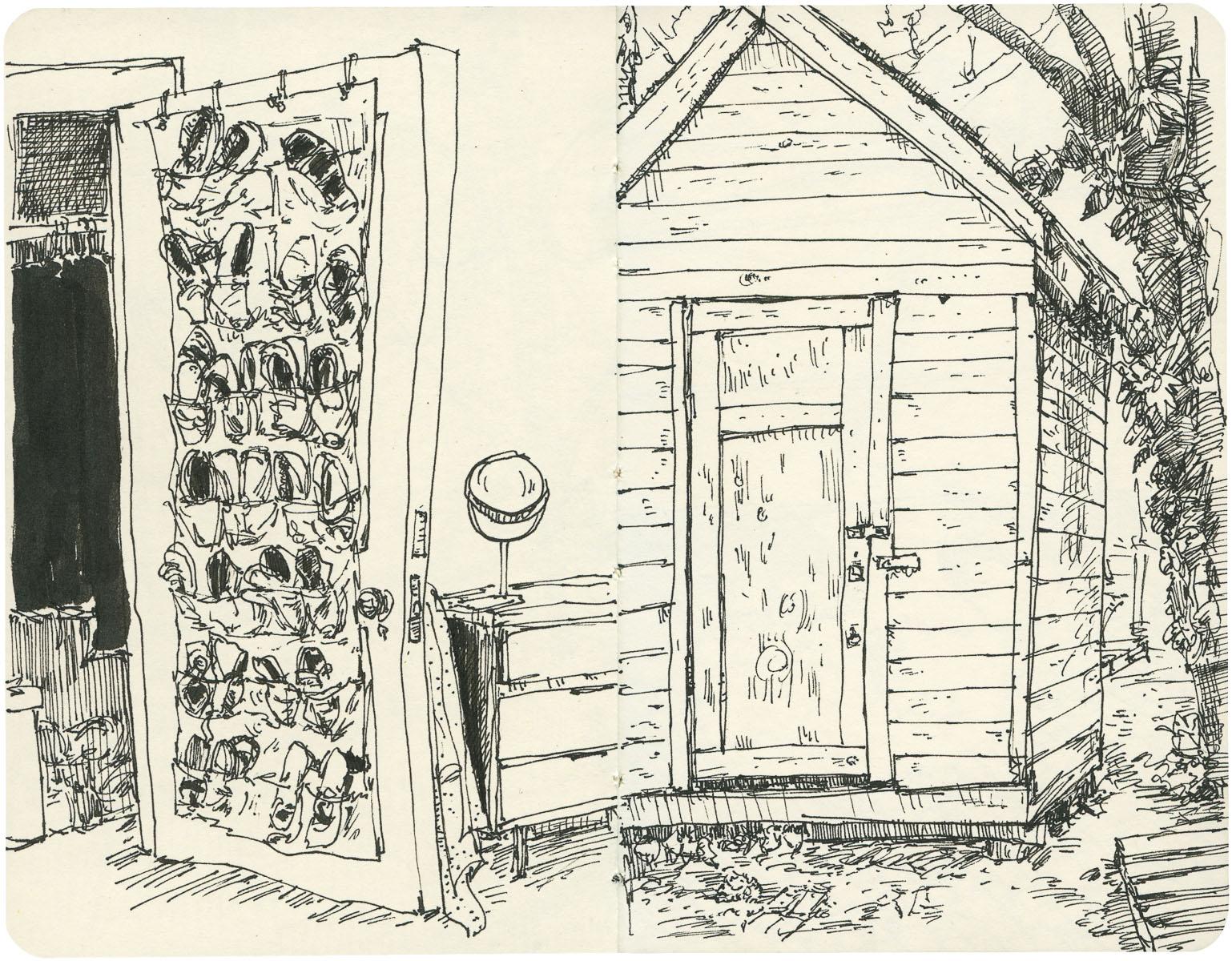 Sketchbook: Closet Door/Shed