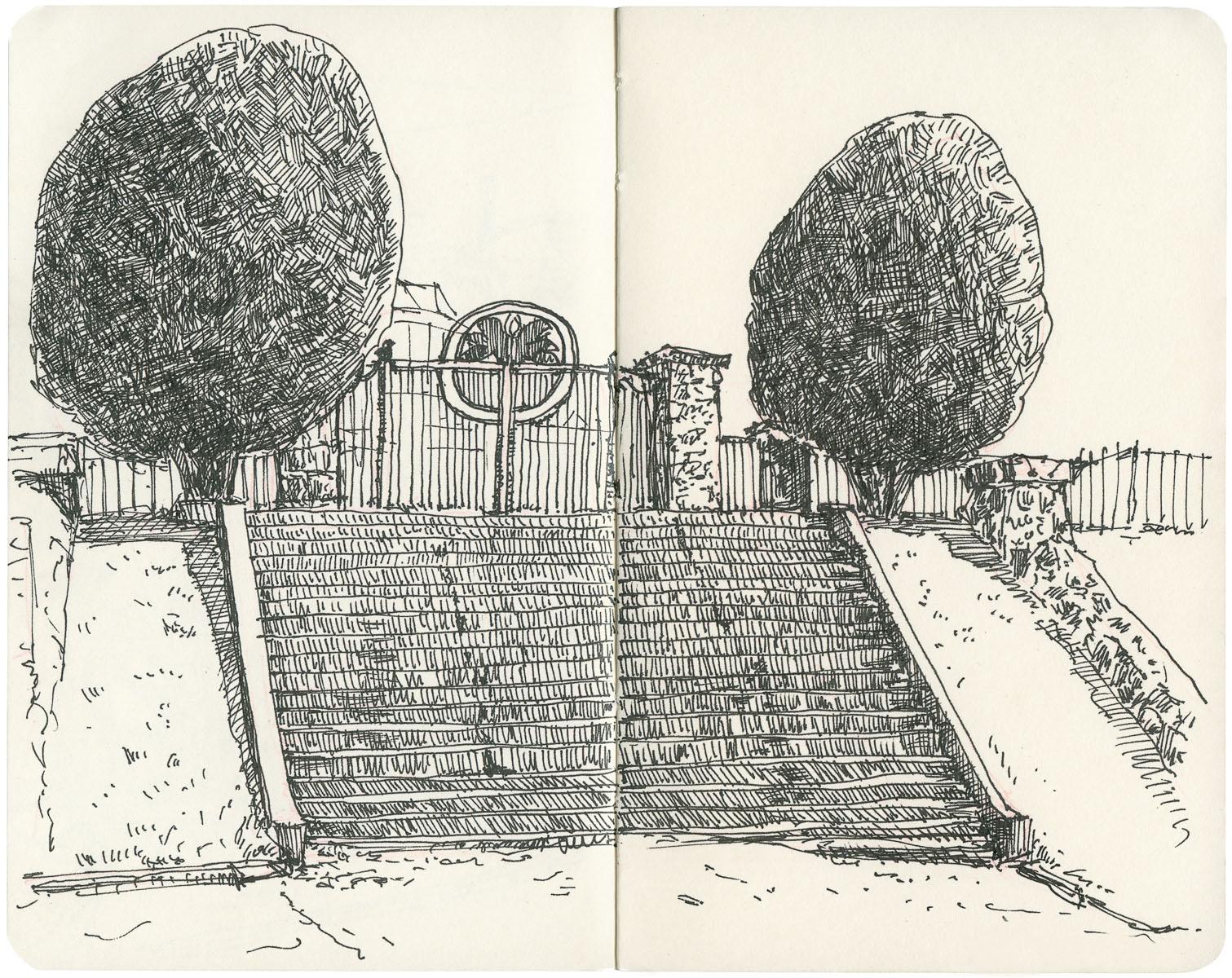 Sketchbook: Piedmont Park Steps