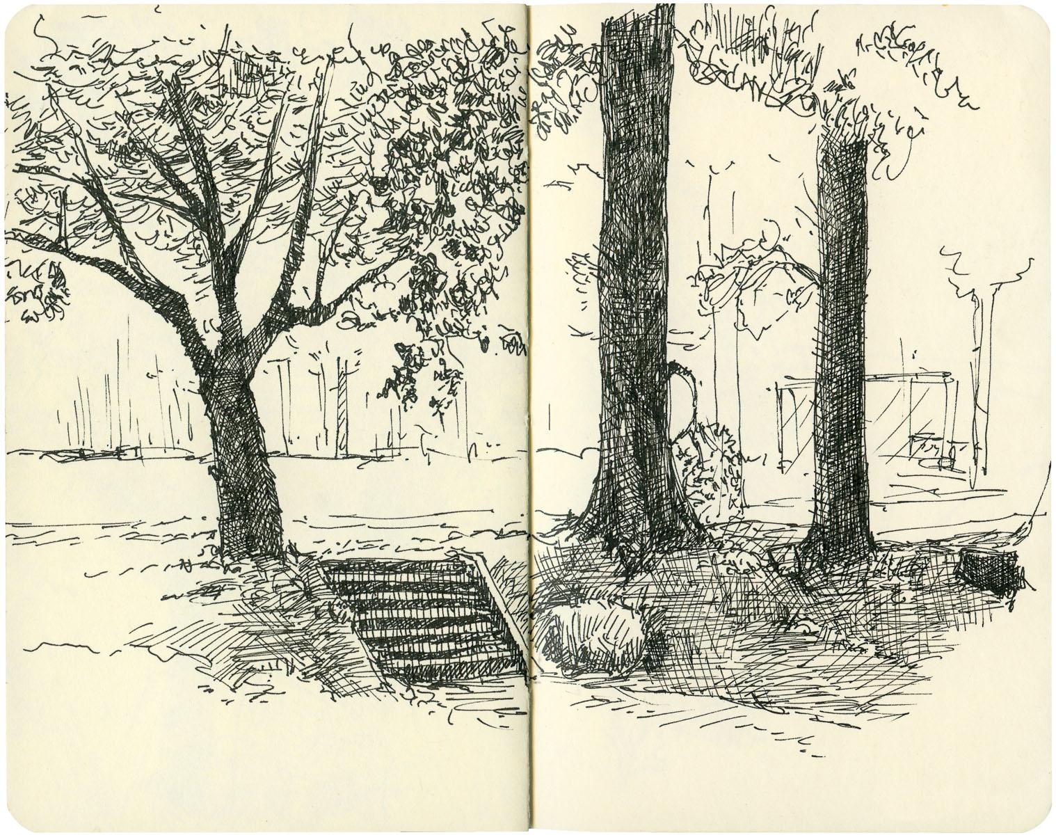 Sketchbook: Park Steps
