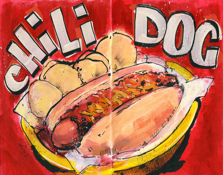 Cannon Pearson–Sketchbook: Chili Dog