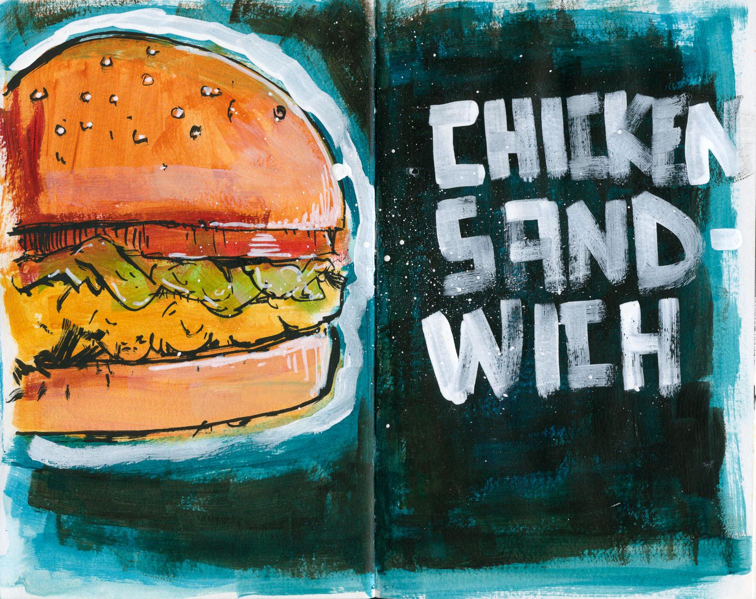 Cannon Pearson–Sketchbook: Chicken Sandwich