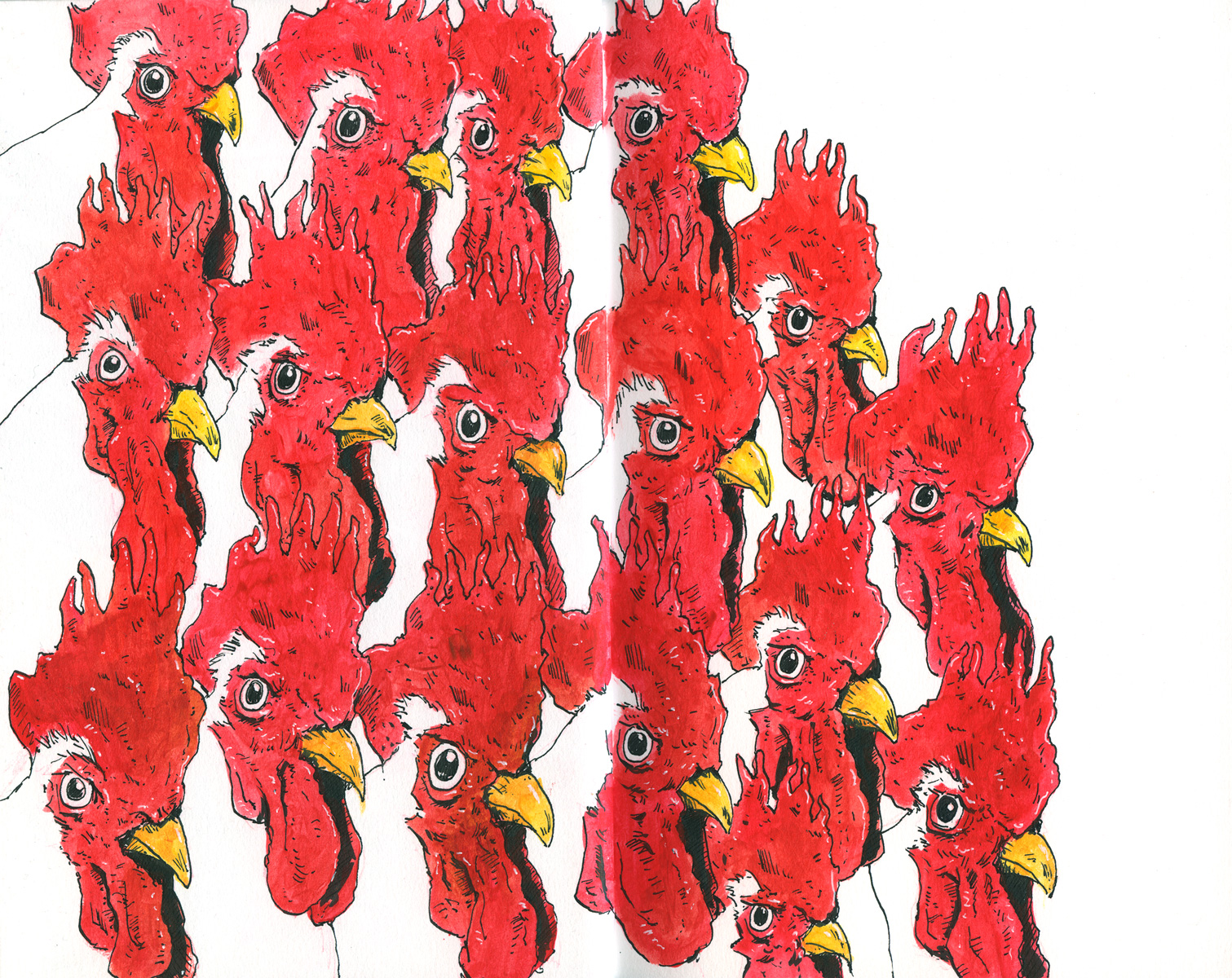 Cannon Pearson–Sketchbook: Chickens