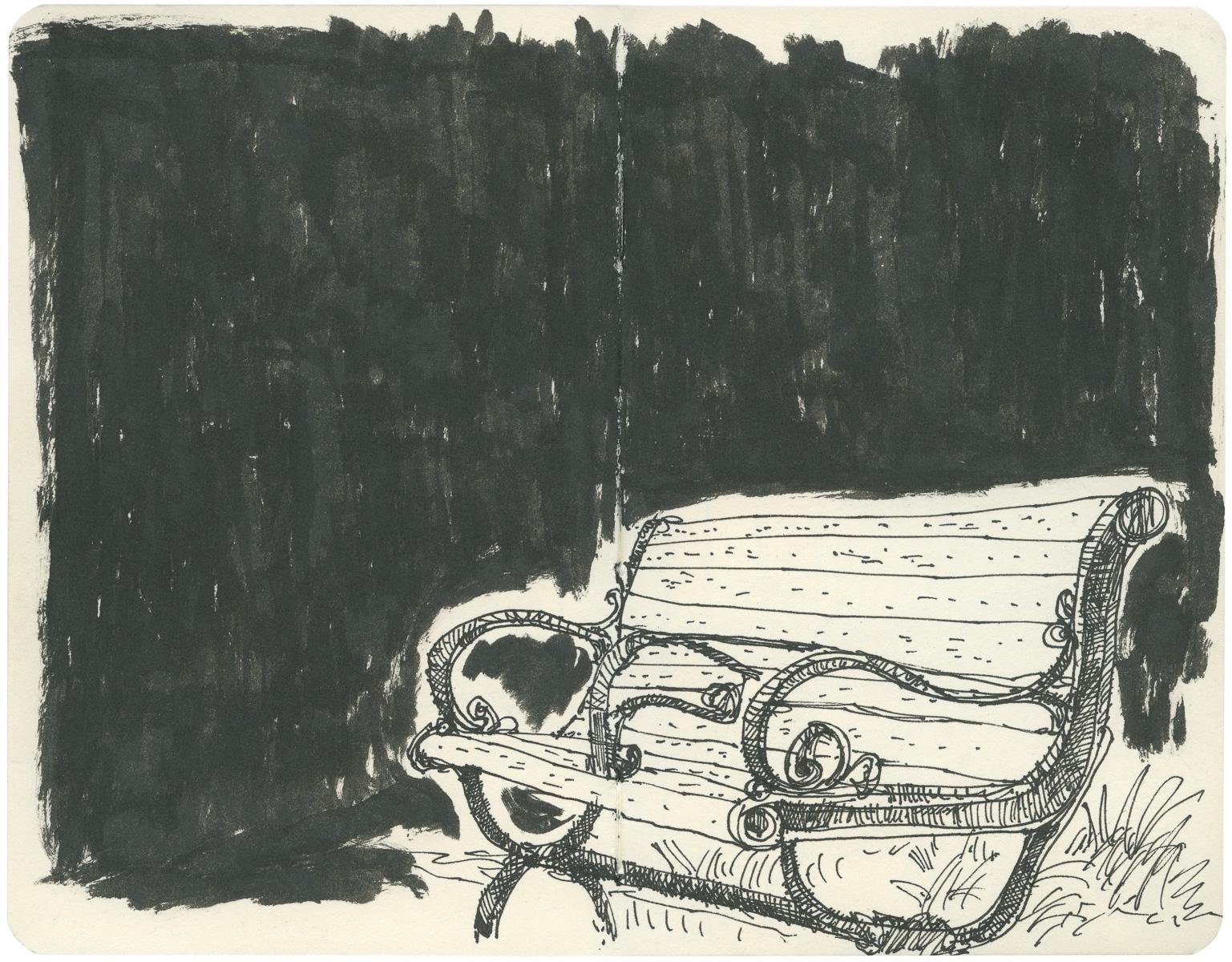 Sketchbook: Park Bench