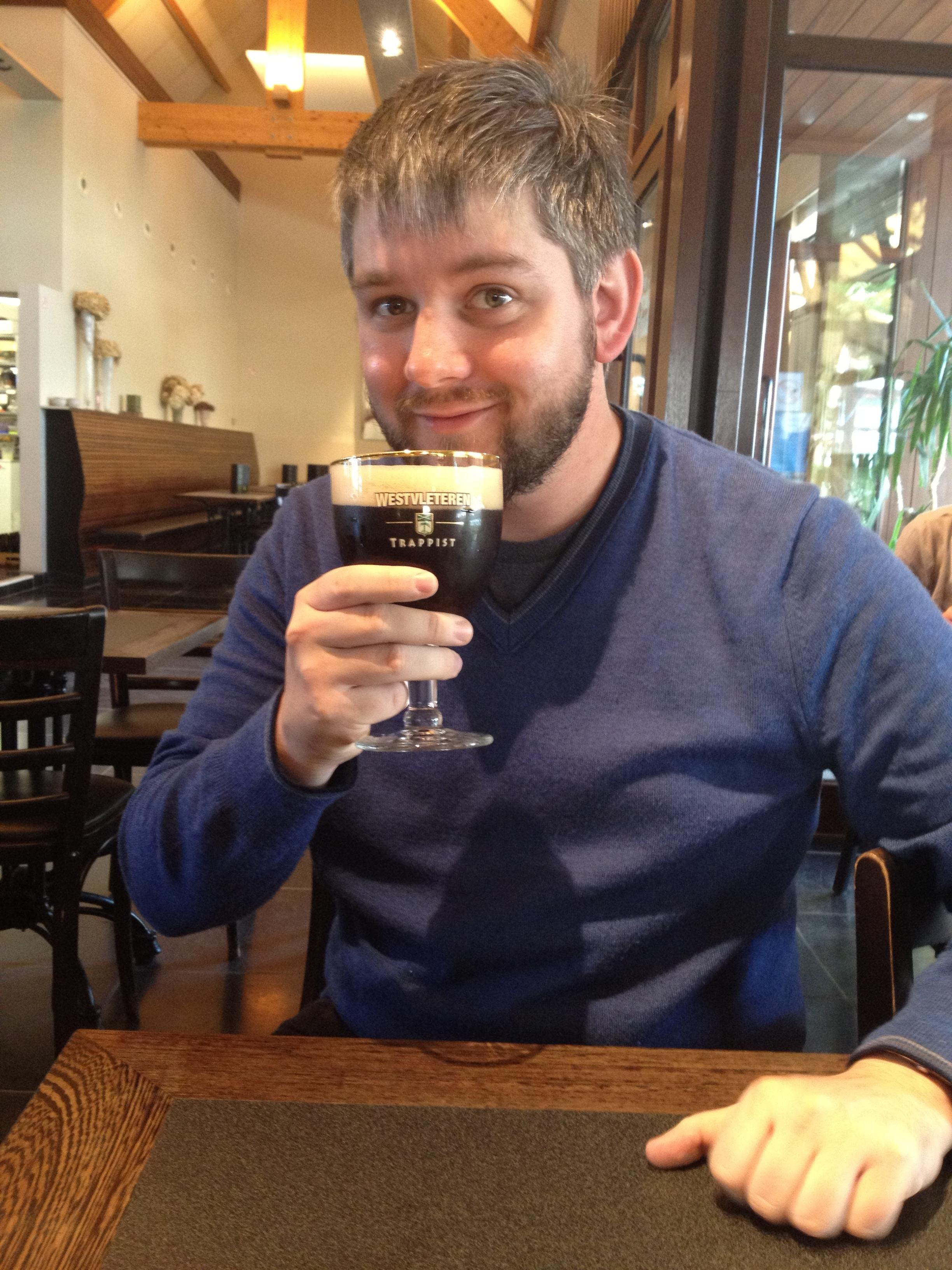 Paul Deines drinking Westvleteren 12, September 2012