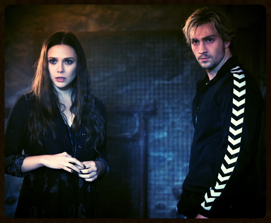 Elizabeth Olsen and Aaron Taylor-Johnson and Scarlet Witch and Quicksilver