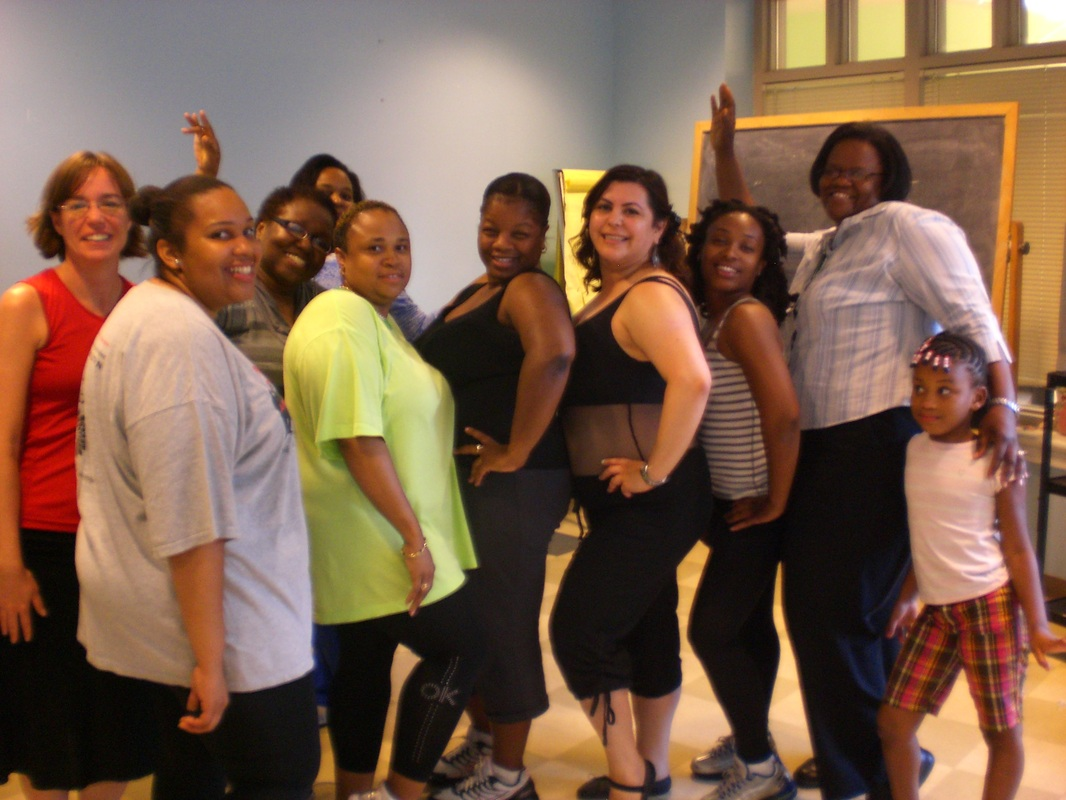 Workshop photo after dancing with Celina Martinez