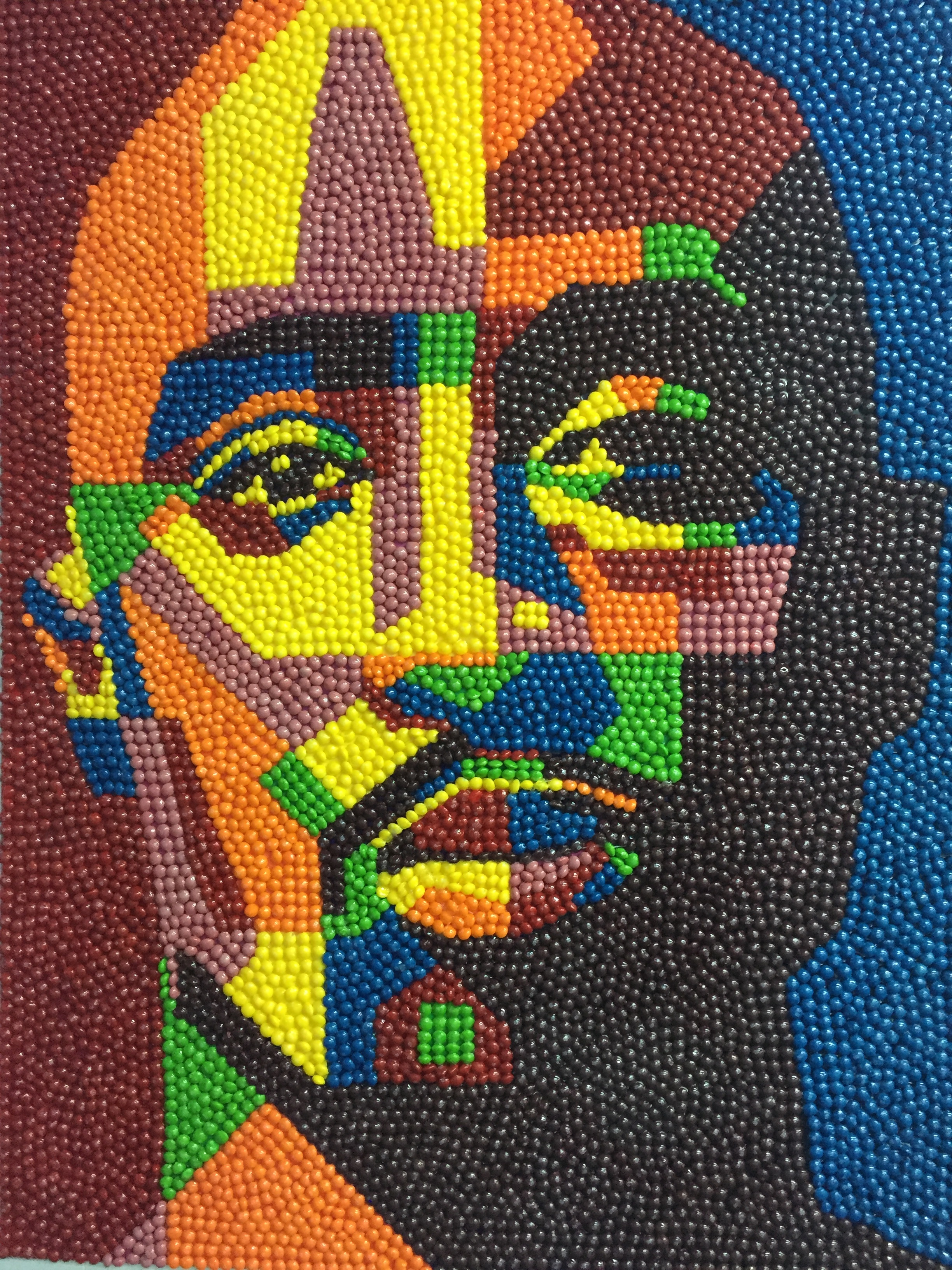 Skittle art by Harold Claudio, @meetzoeblack on Instagram