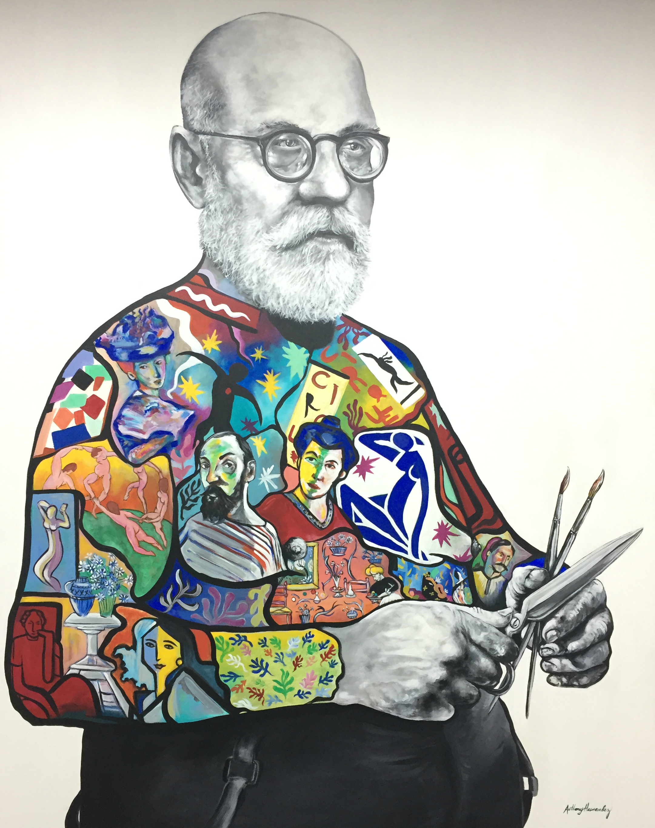 Henri Matisse by Anthony Hernandez, https://www.anthonyhernandezart.com/