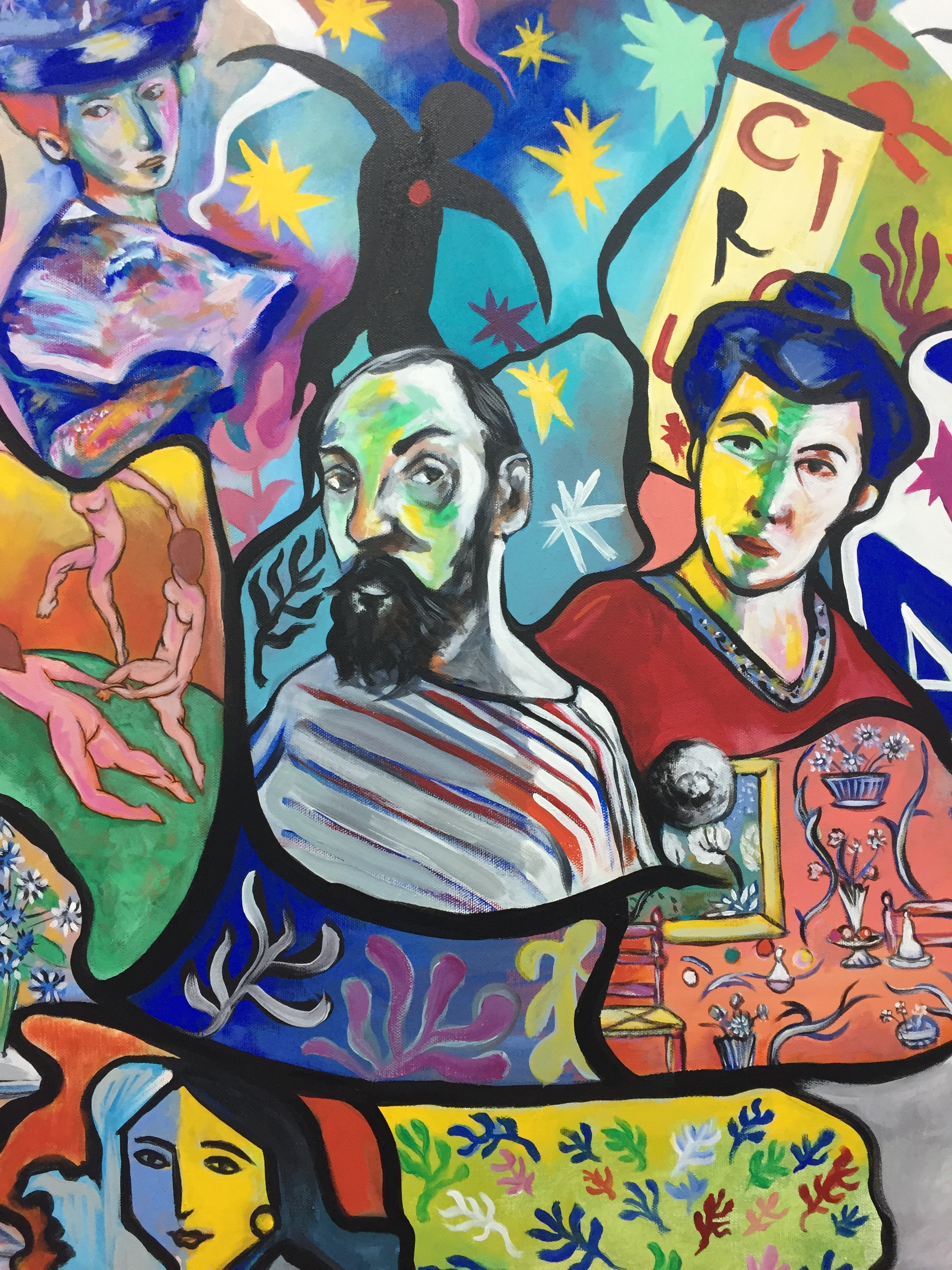 (Detail) Henri Matisse by Anthony Hernandez, https://www.anthonyhernandezart.com/