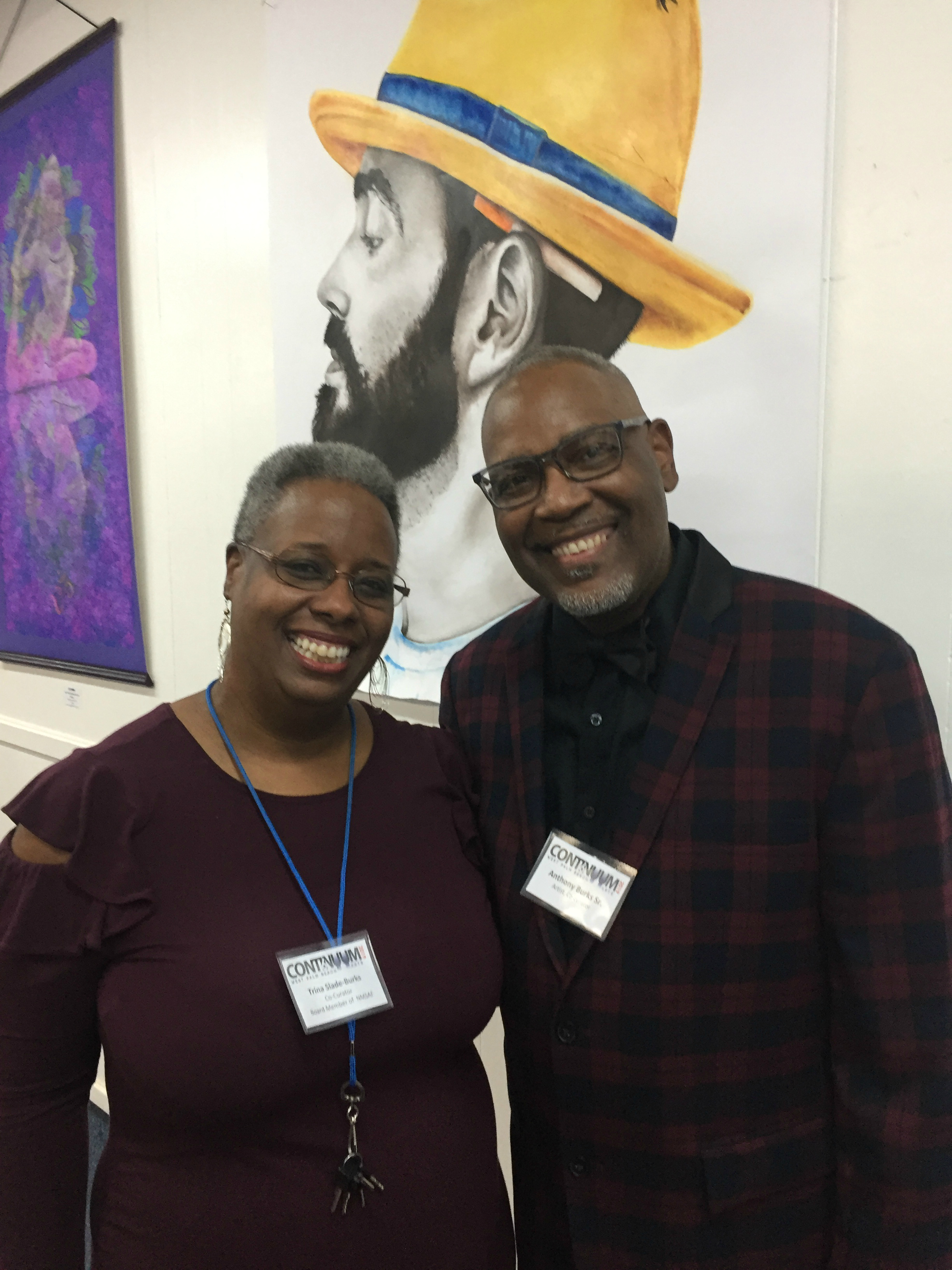 The Burks, Trina and Anthony- they want you to learn more about the No More Starving Artists Foundation, https://www.nmsaf.org/p/board-members.html