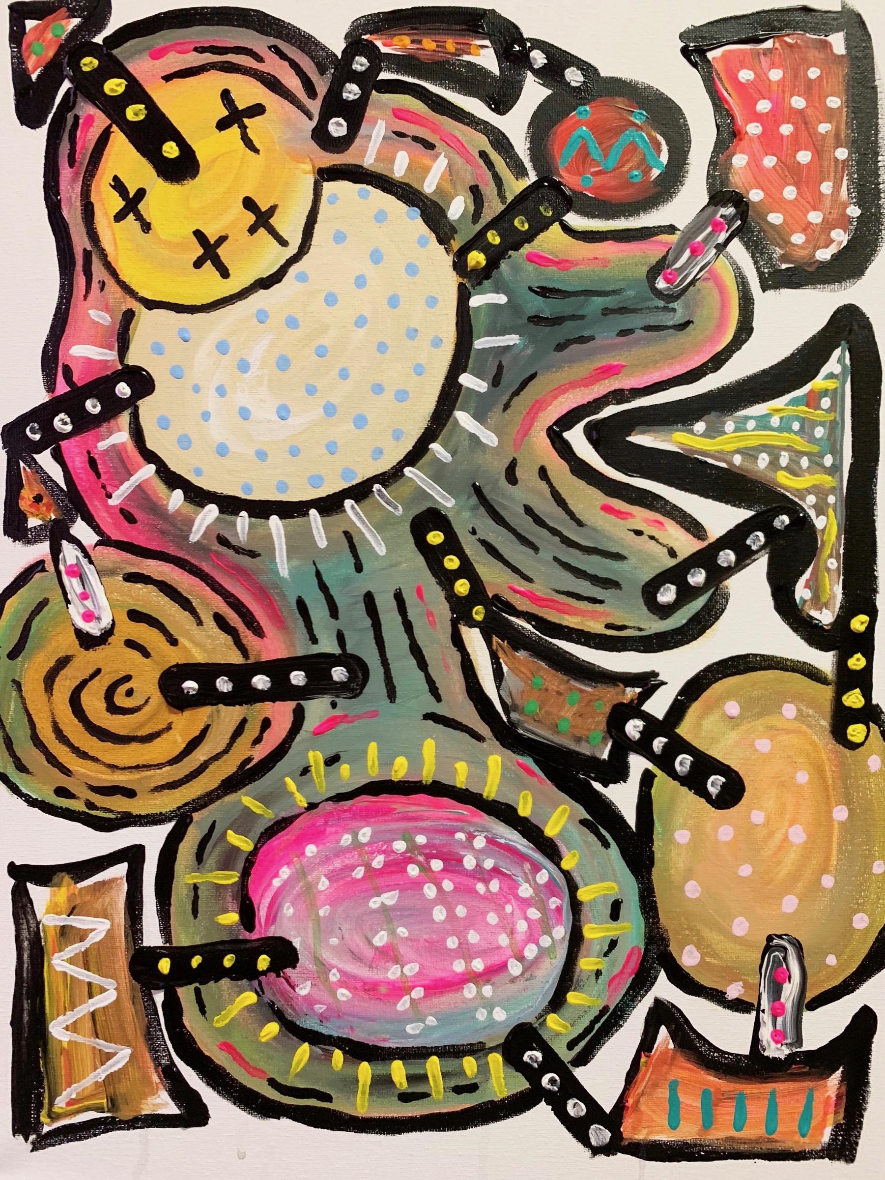 "Untitled  , 16""x 20"" acrylic on canvas"