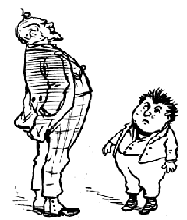 A caricature by Thomas Nast of his first interview with Frank Leslie. From  Th.Nast,His Period AndHisPictures  page 18
