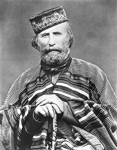 Giuseppe Garibaldi, Photograph taken in 1866 - PD Source Wikimedia Commons