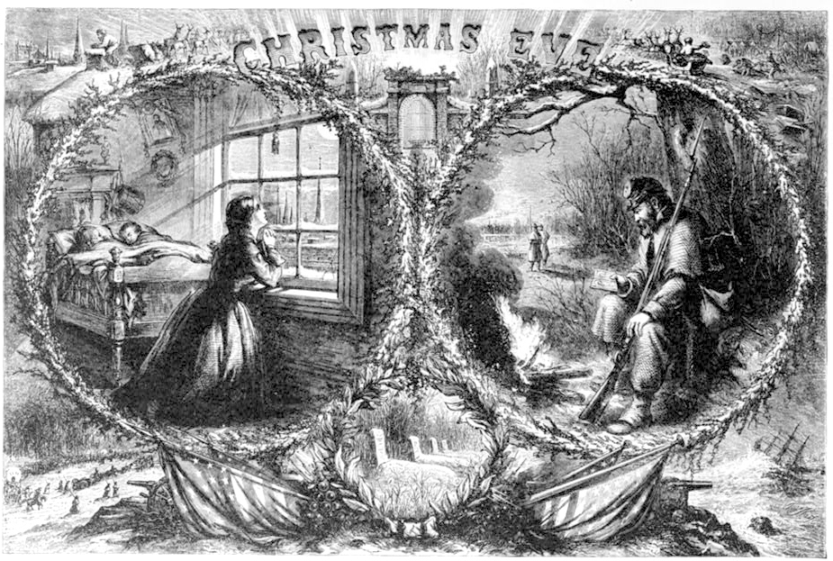 Christmas Eve by Thomas Nast published 1863 - PD Source: Library of Congress