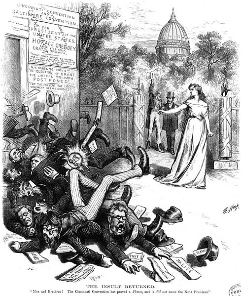 The Insult Returned by Thomas Nast. Published 1872 - PD Source: Wikimedia Commons