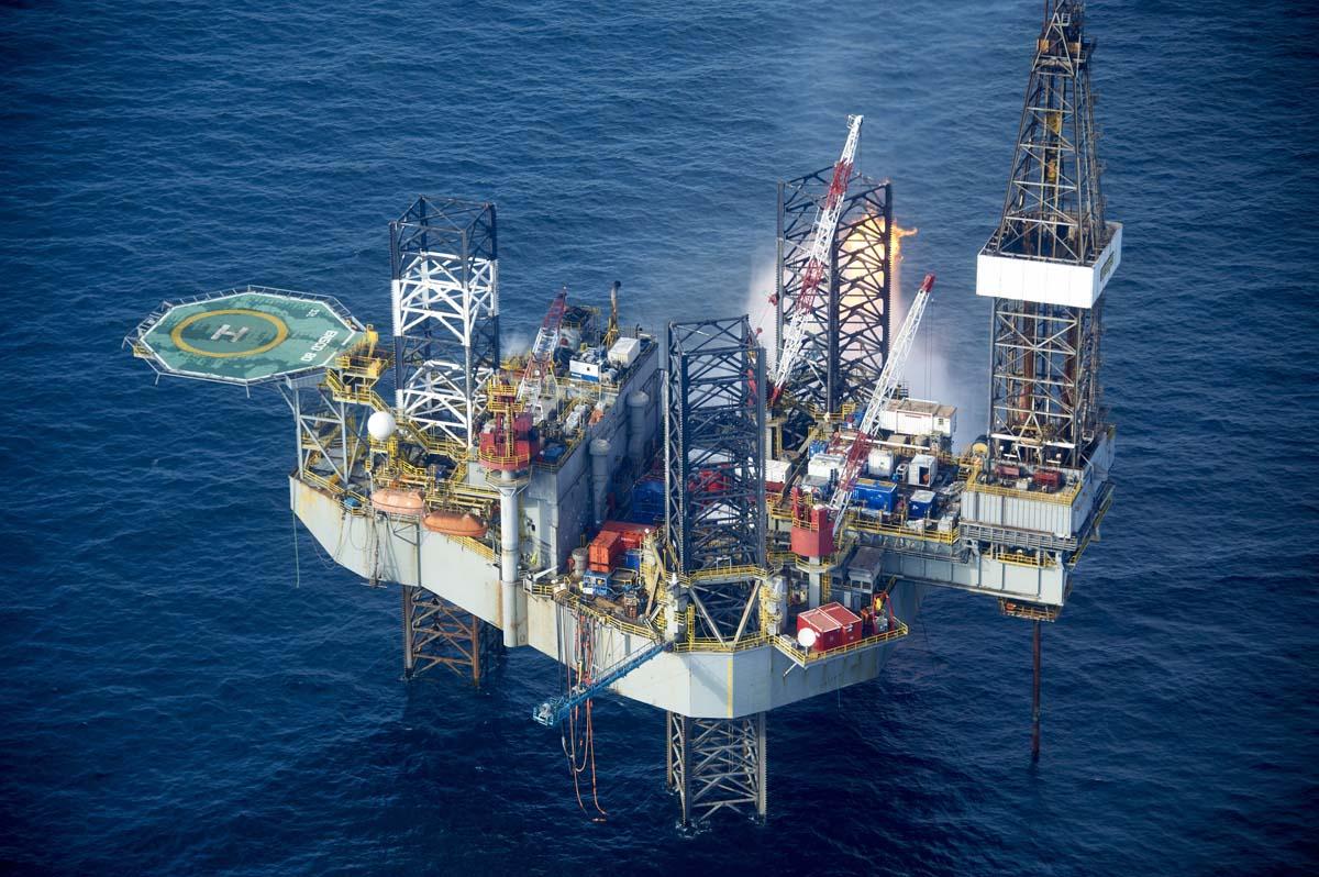 Oil Rig Southern North Sea for Dana Petrolium