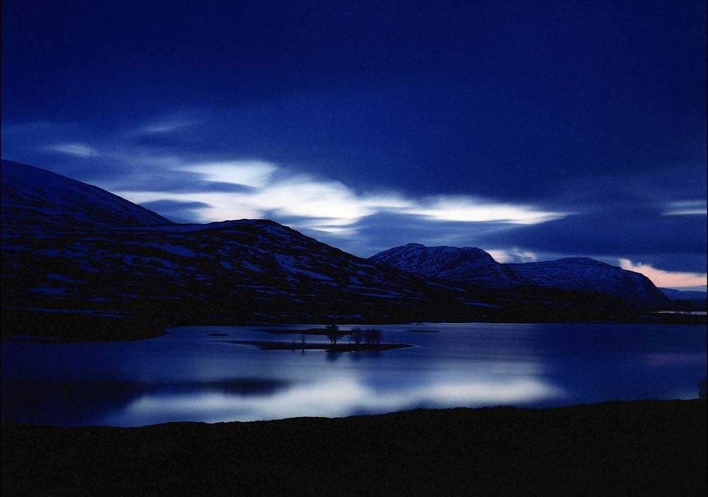 Moonlight on Loch Droma