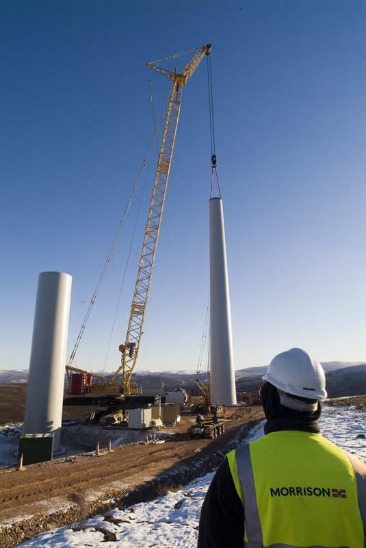 Windfarm Construction Cairngorms for Morrison Construction