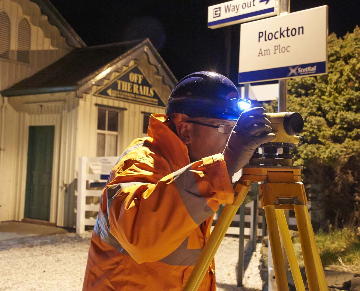 Rail Work Plockton for Morrison Construction