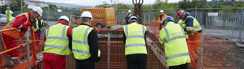 Scottish Water Site Glasgow for Morrison Construction