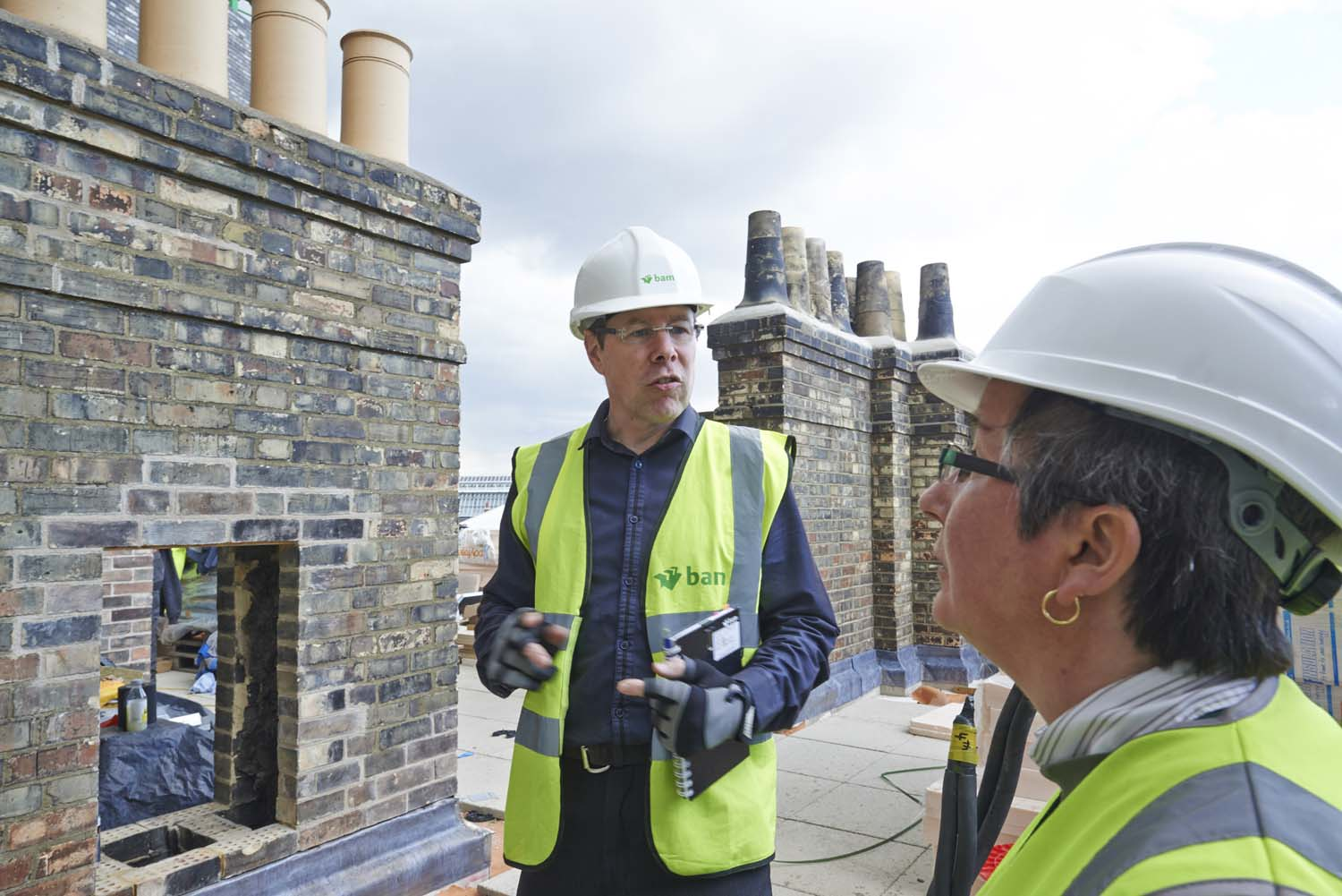 Building inspector at Work, Kings Cross, London for LABC