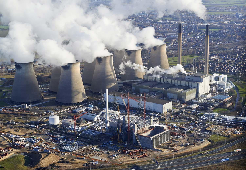 Power Station construction works Ferrybridge Yorkshire