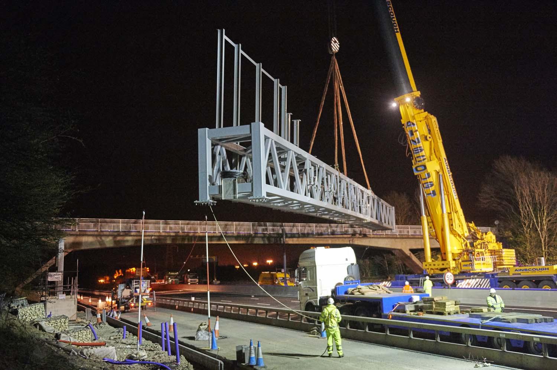 M1 Gantry Installation for BMJV/Highways England