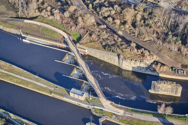 Knostrop Bridge & Weir, Leeds for Knight Architects