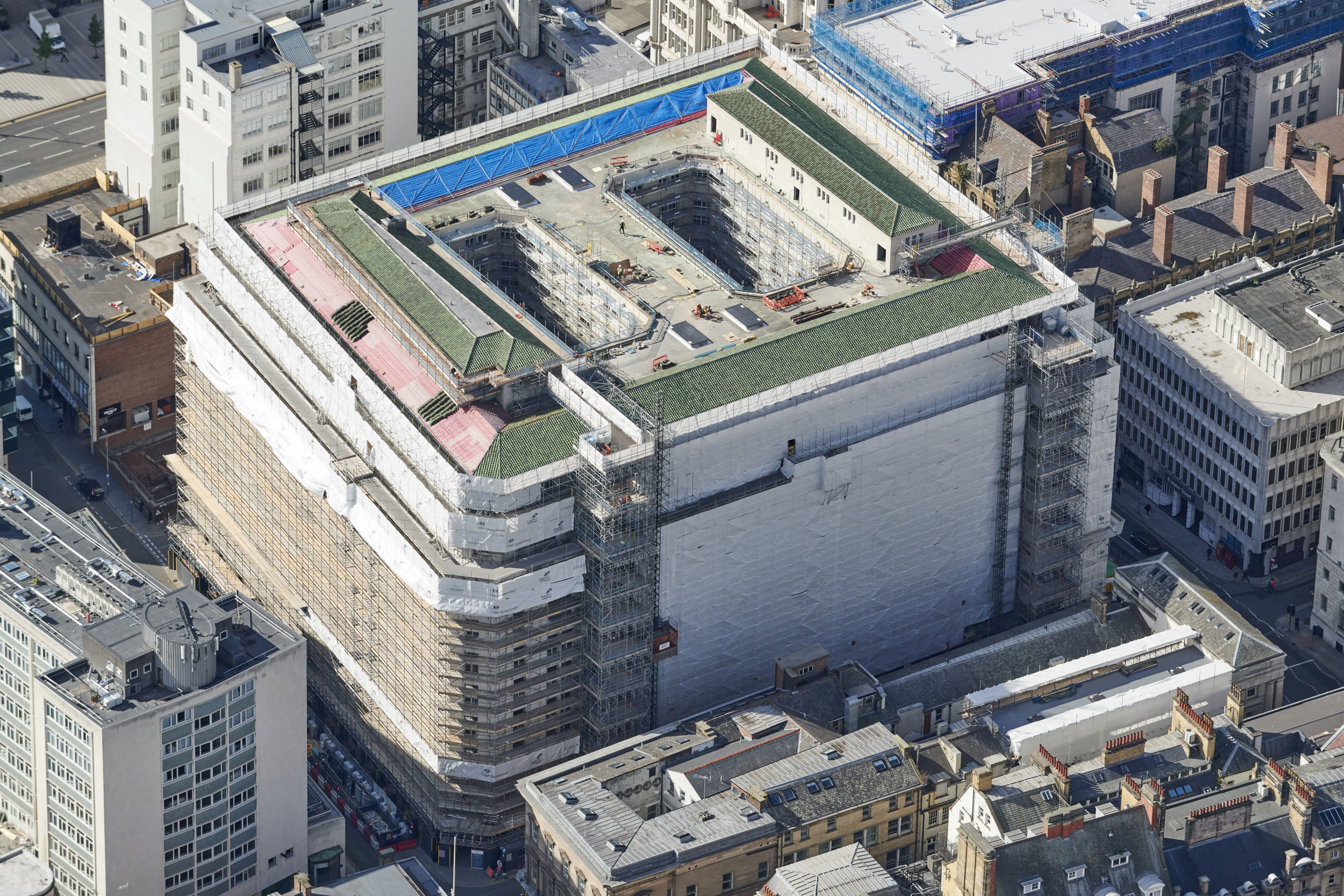 India Building Liverpool for Crossways Scaffolding