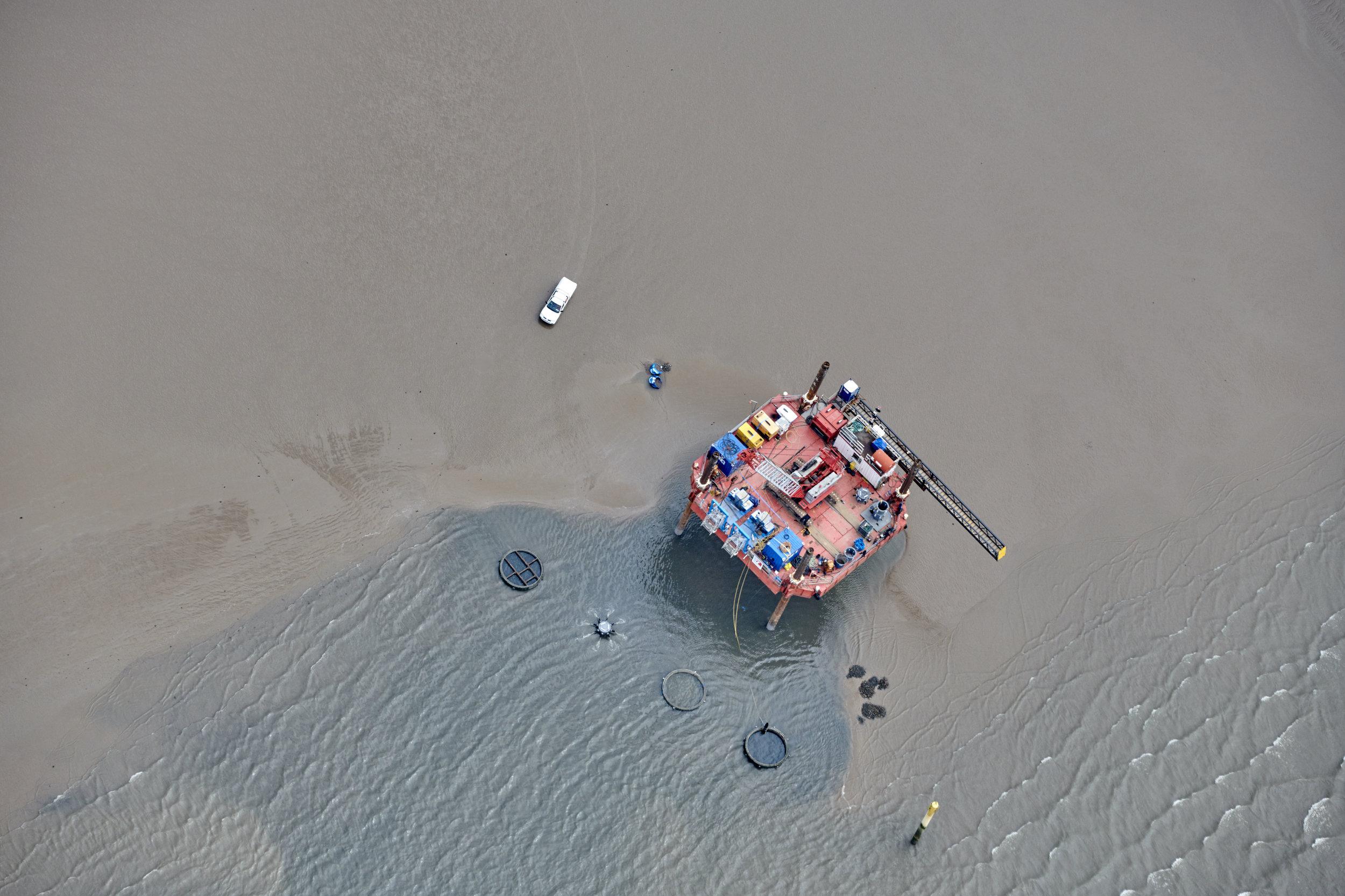 Morecambe Bay low tide works for C2V