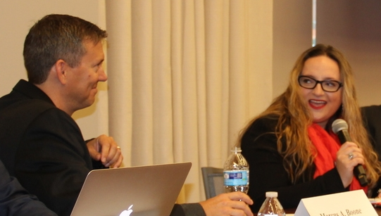 From Left: Marcus Boone, Professor Andrea Matwyshyn