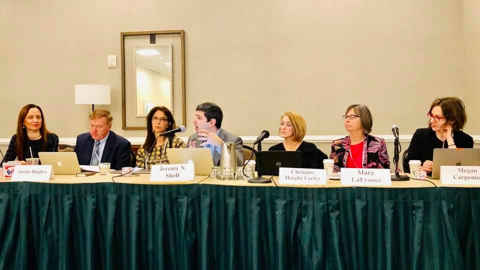 Professor Sheff speaks on AALS Art Law panel:  The Use (and Abuse) of Trademarks in Art: Referential Uses, Lazy Art, and Cultural Salience.  Photo Credit: Irene Calboli