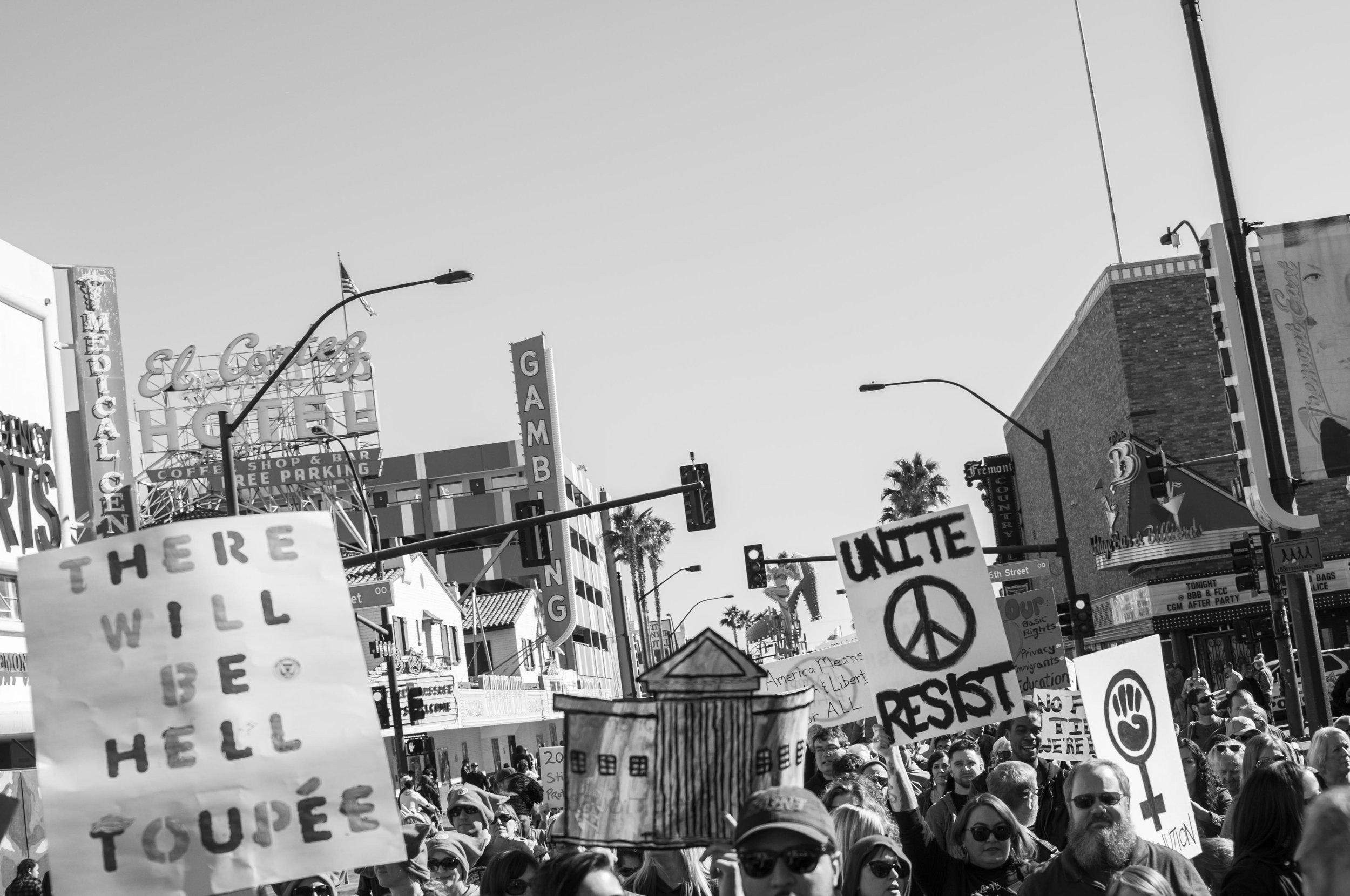 Women's March Las Vegas Photography Heather Byington