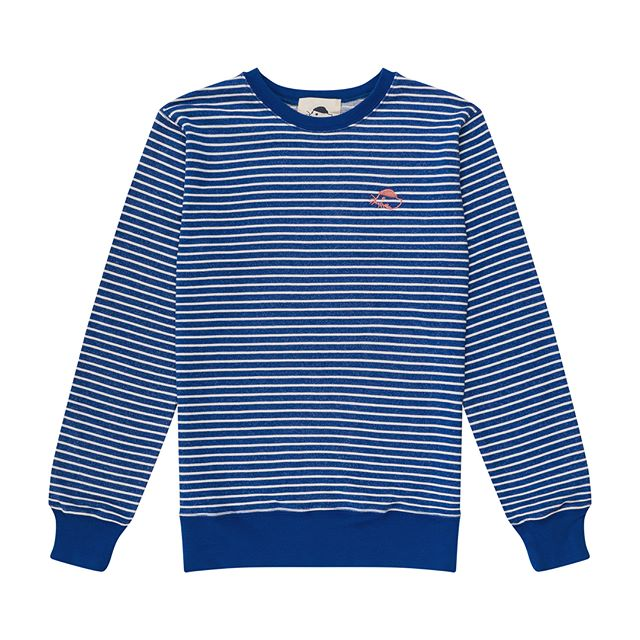 New product alert!!! 🚨 🐳 we made some fun new striped French terry crewnecks just in time for fall! We only made a few of them though so they won't last long. Link in bio or go to @its.fornow in Boston to check them out in person!