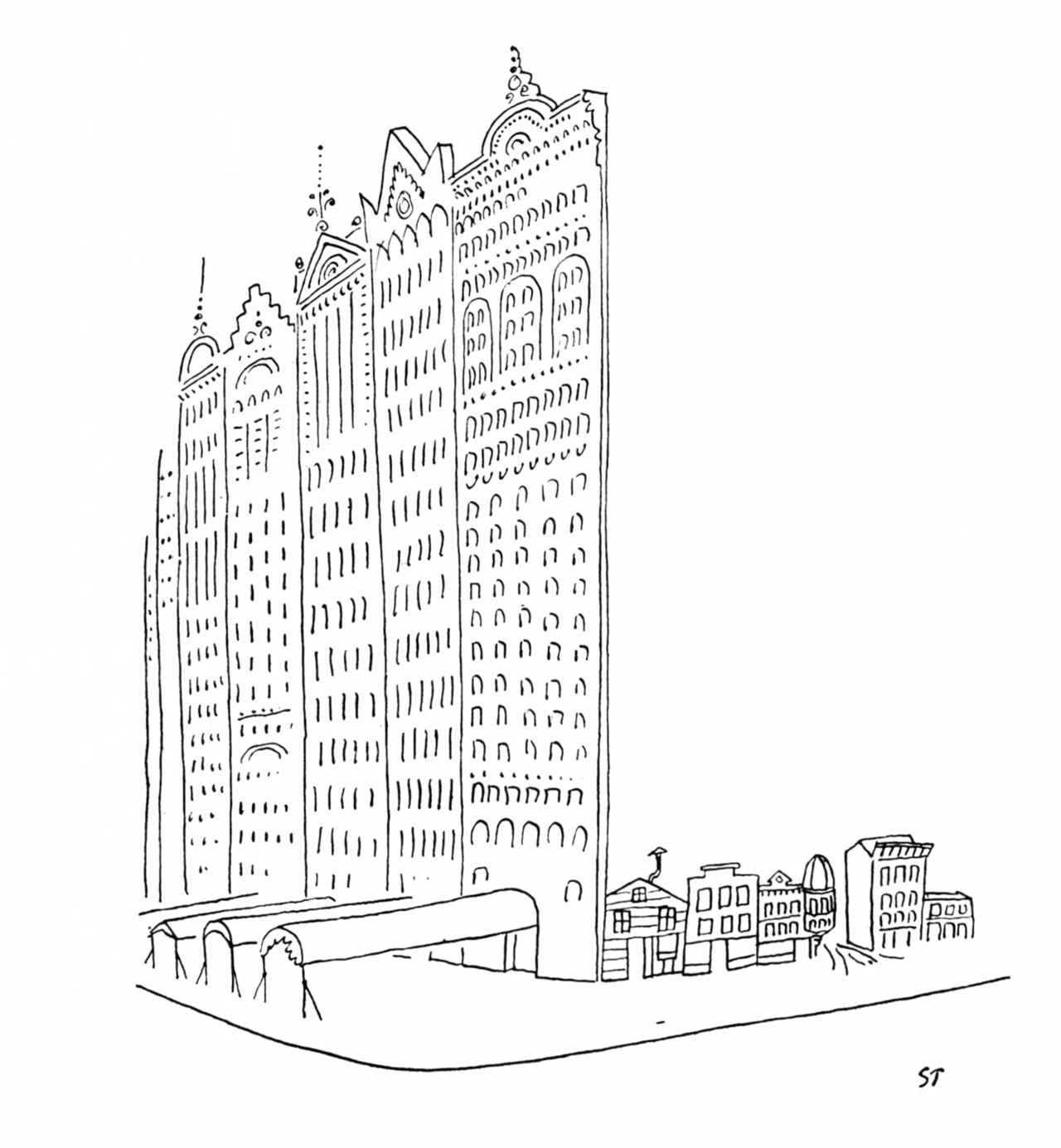 "Saul Steinberg, ""Chicago"" 1952"