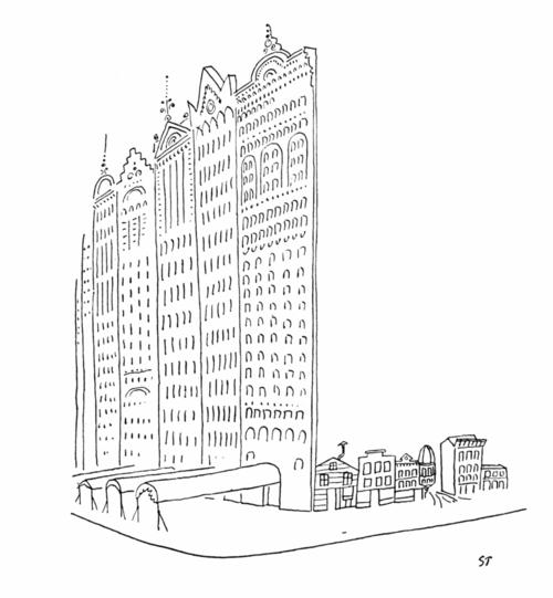 "Saul Steinberg ""Chicago"" 1952"